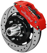 Wilwood Disc Brake Kitfront55-57 Chevy12 Drilled Rotors6 Piston Red Caliper