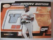 2002 Fleer Hot Prospects Barry Bonds Game Used Road Pants 804/900 Box 41