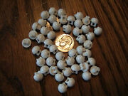 Lot 50 Matching Set 1/4 White Dome Globe Ball Shoe Doll Craft Buttons Vintage