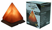 Indusclassic Pyramid Himalayan Crystal Salt Lamp With Ul Dimable Switch And Cord