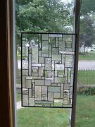 Ice Clear Stained Glass Window Panel Transom