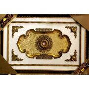 Michealangelo Ceiling Medallion Rectangular With Gold Leaves 63x87