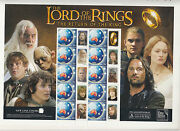 Special Personalized P Stamps Lord Of The Rings Return King Sheet Of 10 Muh