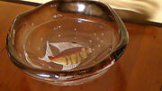 Large Murano Fish Bowl By Pino Signoretto ,signed By The Artist