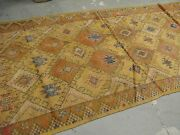 Antique Moroccan African Rug Runner 4and039-4 X 11and039 Hand Knotted Wool On Wool Tribal