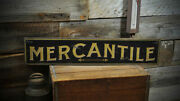 Old Time Mercantile Sign - Rustic Hand Made Vintage Wooden Sign