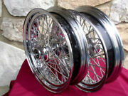 16 X 3.5 60 Spoke Dna Pair Wheels 2000-06 For Harley Heritage Fatboy Deluxe