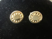Collectible Swank Gold Tone Round Shaped Sun Design Men's Cuff Links