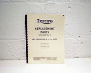 Triumph Motorcycle Parts Manual - All Models Available - 1960 Through 1982 Repro