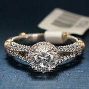 Verragio Engagement Ring 14k White Gold With Red Gold Accents D107-r-o