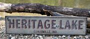 Personalized Lake And City State Lake House - Rustic Hand Made Vintage Wood Sign