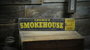 Personalized Smokehouse - Established Date - Rustic Hand Made Vintage Wood Sign