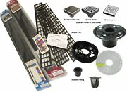 Quick Pitch Pre Slope With Serene Square Drain Complete Shower System Kits
