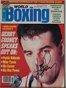 Autographed World Boxing Magazine Nov 1986 Heavy-weight Gerry Cooney