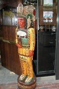 6and039 Cheers Tv Cigar Store Indian 6 Ft Wooden Sculpture Replica By Frank Gallagher