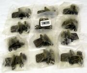 Lot Of 12 Brainerd Self-closing Overlay Hinges + 10 1-1/2'' Wing Cabinet Knobs