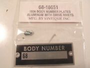 Ford Body Number Plate With Drive Rivets 1936