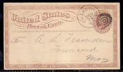 1870s Ux3 Postal Card W/ Peterborough And Shirley Branch Fitchburg Rpo Cancel Ma
