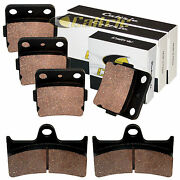 Front And Rear Brake Pads For Yamaha Grizzly 660 Yfm660f 2002 03 04 05 06 07 2008
