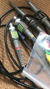 Pair Oscilloscope 100mhz X1 X10 Bnc Clip Probe Oscope Bnc And Clip Cable Test Cord
