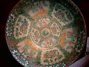 19th C Famille Rose 13.5 Bowl - Big Enough To Anchor A Room Big - Lovely