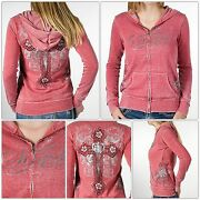 Sinful By Affliction Wild West Women's Hoodie Hooded Sweatshirt. Free Shipping