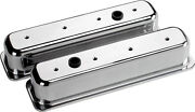 Billet Specialties Polished Alum. Sbc Center Bolt Tall Valve Covers,smooth