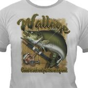 Wall Eye/rod And Reel T Shirt You Choose Style Size Color Up To 4xl 10313