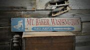 Custom Mountain Ski Area Sign - Rustic Hand Made Vintage Wooden Sign