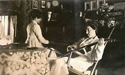 Two Women Playing Music In Living Room And Original Vintage Occupational Photo