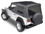 Premium Replacement Soft Top Kit For 1988-1995 Jeep Wrangler Yj Black Sottop