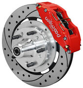 Wilwood Disc Brake Kitfrontfor Wwe Prospindle12 Drill.6 Piston Red Calipers