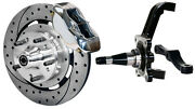 Wilwood Disc Brake Kitfrontwith Wwe Prospindles12 Drilled Rotorspolish Cal.