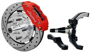 Wilwood Disc Brake Kitfrontw/wwe 2 Drop Prospindles12 Drldred 6 Piston Cal