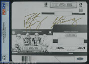 Peyton + Eli Manning Signed Autographed 1/1 Panini Rands Steiner Psa/dna Mint 9.5