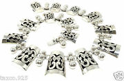 Vintage Design Taxco Mexican Sterling Silver Shadow Box Floral Necklace Mexico