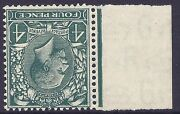 1924 4d Grey Green Block Cypher Spec N39-2 Watermark Inverted Unmounted Mint/mnh