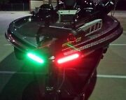 Boat Bow Led Lighting Red And Green - 8 Strips Fully Submersible