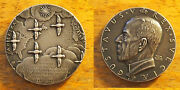 Gustavus V Sweden America Pioneers 1848 - 1948 Silver Medal 1.5 Geese And Maps