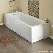 Front And End High Gloss White Wood Mdf Bath Adjustable Panel And Plinth Many Sizes