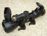 Utg 3-9x32 Compact Bug Buster Rifle Scope W/laser Combo Remote Pressure Switch