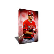 Mike Trout Anaheim Angeland039s Mvp Poster Photo Painting Artwork On Canvas Wall Art