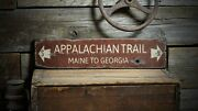 Distressed Appalachian Trail Sign - Rustic Hand Made Vintage Wooden