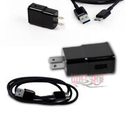 100x 2a Power Wall Adapter+6ft Micro Usb 3.0 Data Cables Black Galaxy S5 Note 3