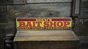 Custom Bait Shop Lake House Sign - Rustic Hand Made Vintage Wooden