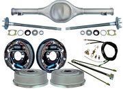 Currie 64-66 Mustang Rear End And 11 Drum Brakes,lines,parking Brake Cables,axles