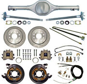 Currie 64-66 Mustang Rear End And Disc Brakeslinesparking Brake Cablesaxlesetc