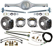 Currie 71-73 Mustang Rear End And Wilwood Disc Brakes,lines,e-brake Cables,axles,+