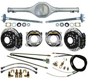 Currie 82-97 S-10 And Blazer Rear End And Wilwood Drilled Disc Brakes,black Calipers