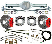 Currie 68-74 X-body Multi-leaf Rear End And Wilwood Disc Brakesredlinese-cables